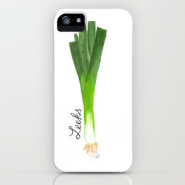 Leeks Garden Art iPhone Case