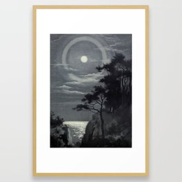 Moon Halo Framed Art Print