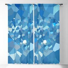 Aqua Heart Blackout Curtain