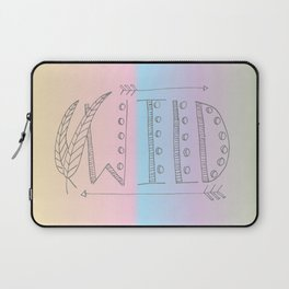 Wild Print With Feathers Laptop Sleeve