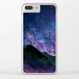Stay Curious - Go explore the planet the stars and nature Clear iPhone Case
