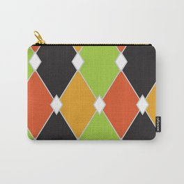 Orange, green and black jester diamonds Carry-All Pouch