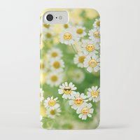 emoji iPhone & iPod Cases featuring Emoji Garden by jajoão
