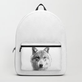 Black and White Wolf Backpack