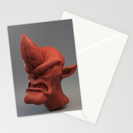 Cobold creature sculpt (red material) Stationery Cards