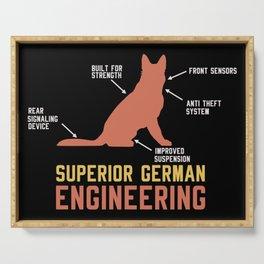 German Shepherd Gift: Superior German Engineering Serving Tray