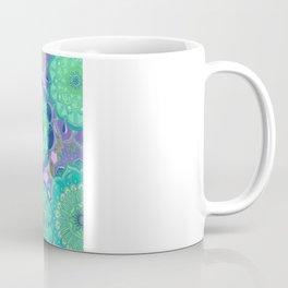 Fantasy Flowers in mint green & purple Coffee Mug