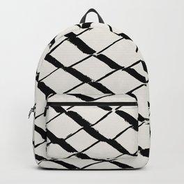 Modern Diamond Lattice Black on Light Gray Backpack
