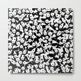 Less Hate More Panda Metal Print
