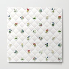 Alpine Flowers Quilt Pattern Metal Print