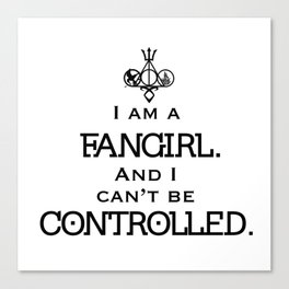 Uncontrollable Fangirl with Fandom Symbol Canvas Print