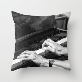 Play the Piano Throw Pillow