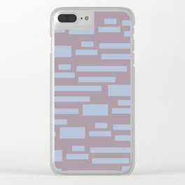 Sugar Cane - Scandinavian Mid-Century Stripes Clear iPhone Case