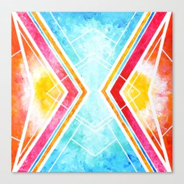 Lake Sunset - Colorful Geometric Canvas Print