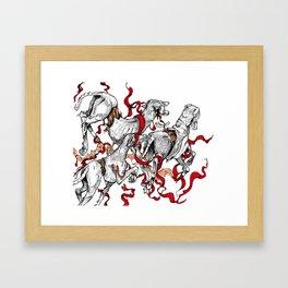 whippet run Framed Art Print