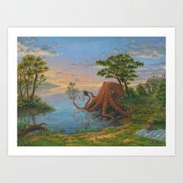 Sigmund the intellectual octopus Art Print