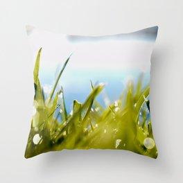 Dewy Days Throw Pillow