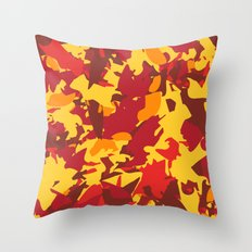 vermont fall camo Throw Pillow