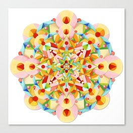 Pastel Carousel Mandala Canvas Print
