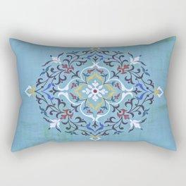 Calligraphy Flower Rectangular Pillow