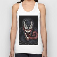 venom Tank Tops featuring venom by Fila Venom Art