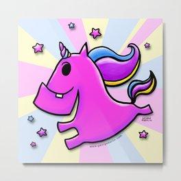 Fab-yoo-lous Unicorn! Metal Print