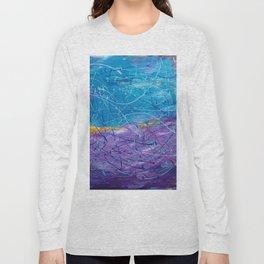 Purple/Blue Abstract Long Sleeve T-shirt