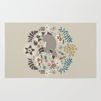 totes Area & Throw Rugs featuring Little Rascals (Light) by Anna Deegan