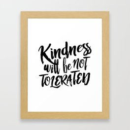 Nasty Kindness – Black Framed Art Print