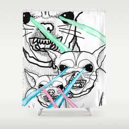 DESTROY Shower Curtain