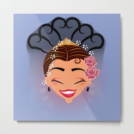 Tuti-Lady Flamenquerías/Character & Art Toy design for fun Metal Print