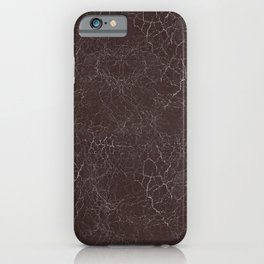 Brown Cracking  Leather-Look iPhone Case