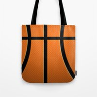 basketball Tote Bags featuring Basketball by Eye Shutter to Think Photography