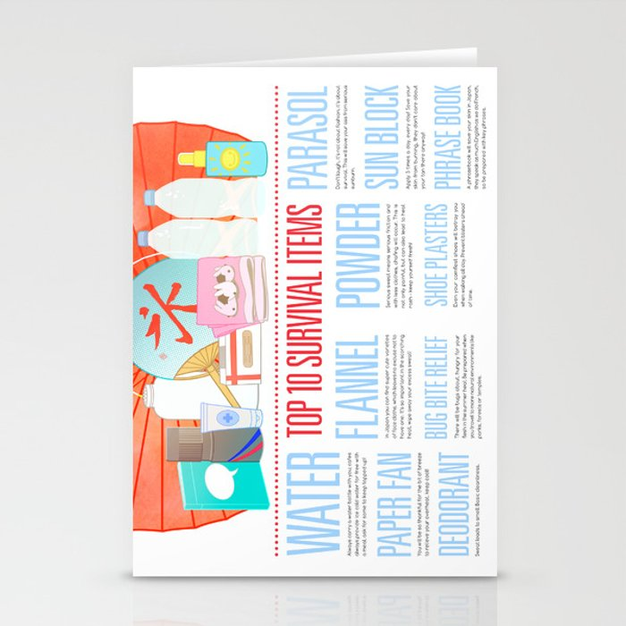 Beat the Heat Stationery Cards