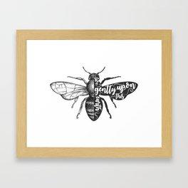 Live Gently Framed Art Print