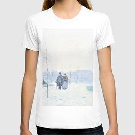 12,000pixel-500dpi - Anton Rudolf Mauve - Old couple in a newly landscaped park T-shirt