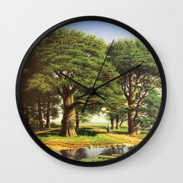 Outskirts of the village Wall Clock