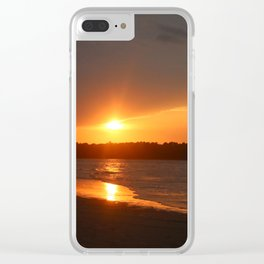 Sunset Over The Waterway Clear iPhone Case