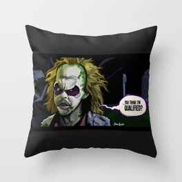 Qualified? Throw Pillow