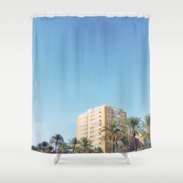Palm Trees and Architecture Shower Curtain
