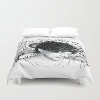 tattoos Duvet Covers featuring Tattoos - L by wreckthisjessy