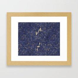Royal Orchid Gold Marble Mine Framed Art Print