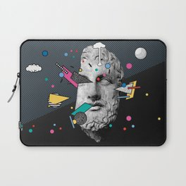 """Thoughtless"" Inner Thoughts Statue Memphis Collage 1 Laptop Sleeve"