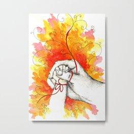 Inky hands23-Child Metal Print