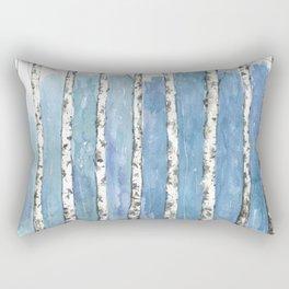 Blue forest painting Rectangular Pillow