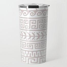 greek pattern A in beige Travel Mug