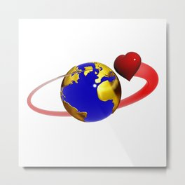 love is all around, #hatetolove Metal Print