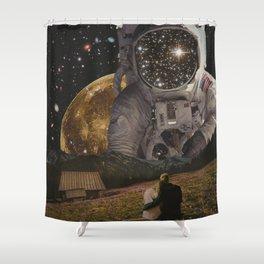 HELLO ASTRONAUT Shower Curtain