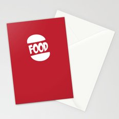 FOOD logo fun generic food logo Stationery Cards
