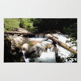 Fall Creek - Tumbling Down from Endlich Mesa, at 12,000 feet Rug